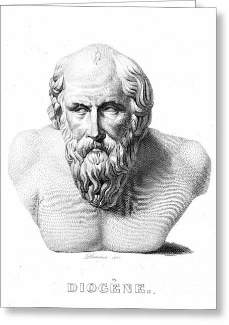 Statue Portrait Photographs Greeting Cards - DIOGENES (d. c320 B.C.) Greeting Card by Granger