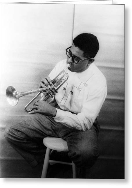 Qed Photographs Greeting Cards - Dizzy Gillespie (1917-1993) Greeting Card by Granger