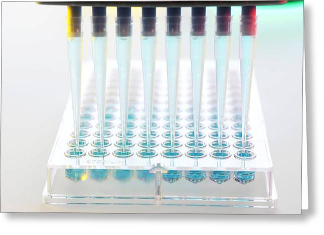 Automation Greeting Cards - Dna Analysis Greeting Card by Tek Image