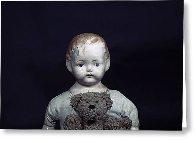 doll and bear Greeting Card by Joana Kruse