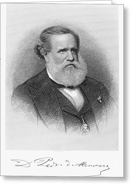 Autograph Greeting Cards - Dom Pedro Ii (1825-1891) Greeting Card by Granger