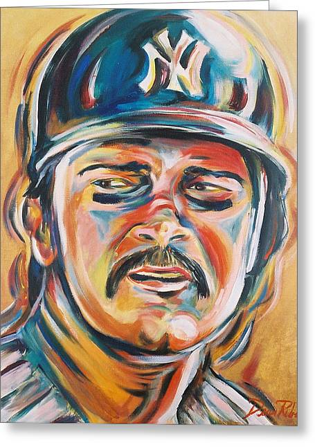 Don Mattingly Greeting Cards - Don Mattingly Greeting Card by Redlime Art
