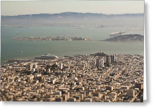 Office Space Greeting Cards - Downtown San Francisco Greeting Card by Eddy Joaquim