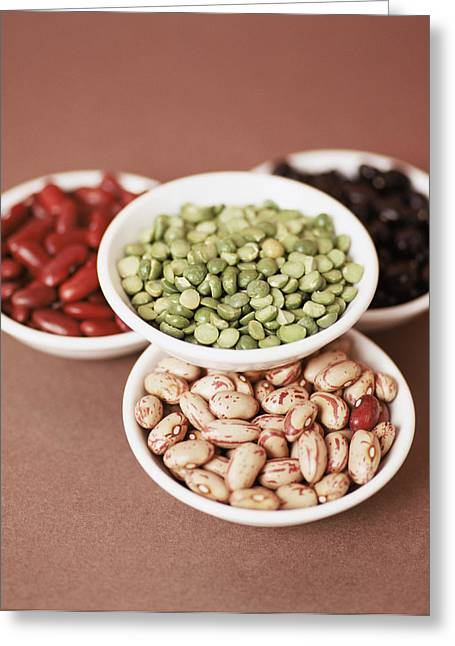 Green Beans Greeting Cards - Dried Pulses Greeting Card by Cristina Pedrazzini