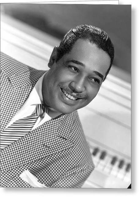 Neckties Greeting Cards - Duke Ellington (1899-1974) Greeting Card by Granger