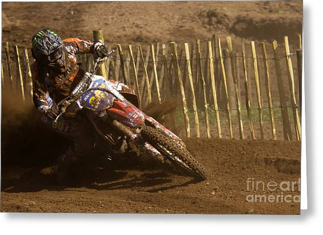 Enduro Greeting Cards - Dust And Mud Greeting Card by Angel  Tarantella
