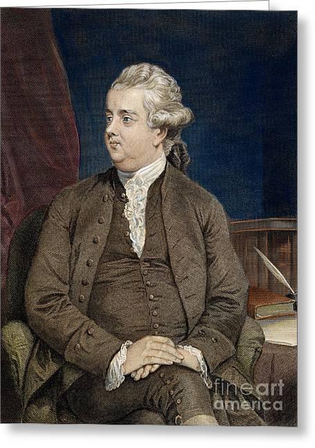 Edward Gibbon Greeting Cards - Edward Gibbon (1737-1794) Greeting Card by Granger