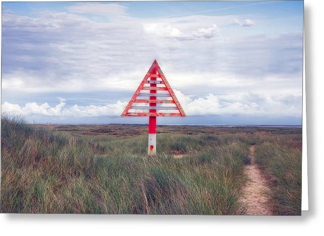 Warning Sign Greeting Cards - elbow - Sylt Greeting Card by Joana Kruse