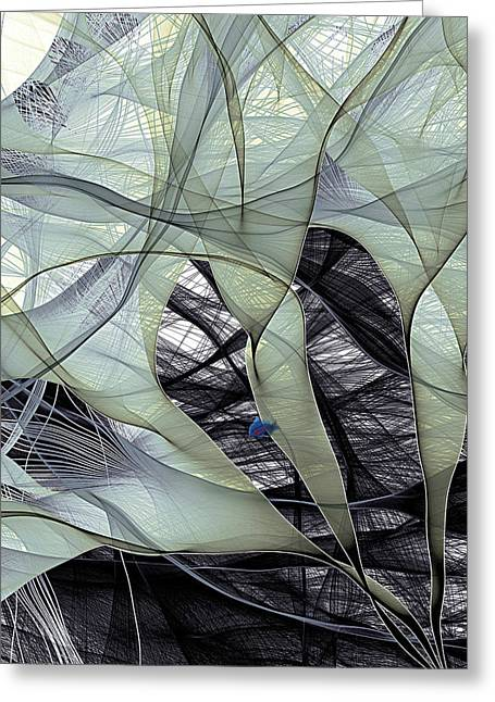 Recently Sold -  - Patterned Greeting Cards - Electron Flow Greeting Card by Eric Heller