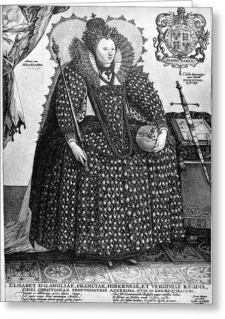 Ball Gown Photographs Greeting Cards - Elizabeth I (1533-1603) Greeting Card by Granger