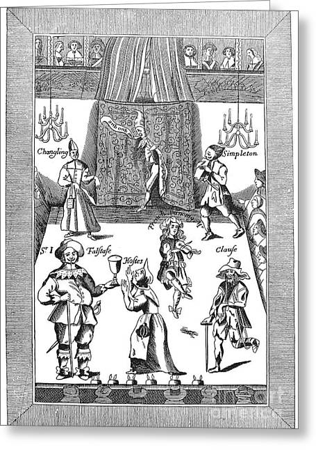 Falstaff Greeting Cards - Elizabethan Theatre Greeting Card by Granger