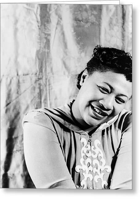 Qed Photographs Greeting Cards - Ella Fitzgerald (1917-1996) Greeting Card by Granger