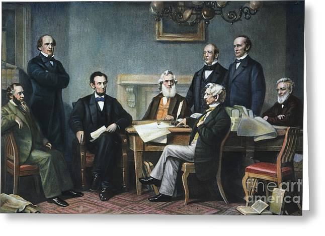 Proclamation Photographs Greeting Cards - Emancipation Proclamation Greeting Card by Granger