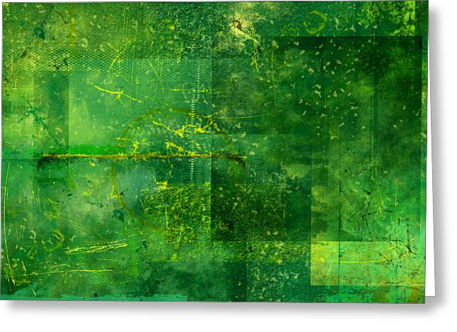 Emerald Heart Greeting Card by Christopher Gaston
