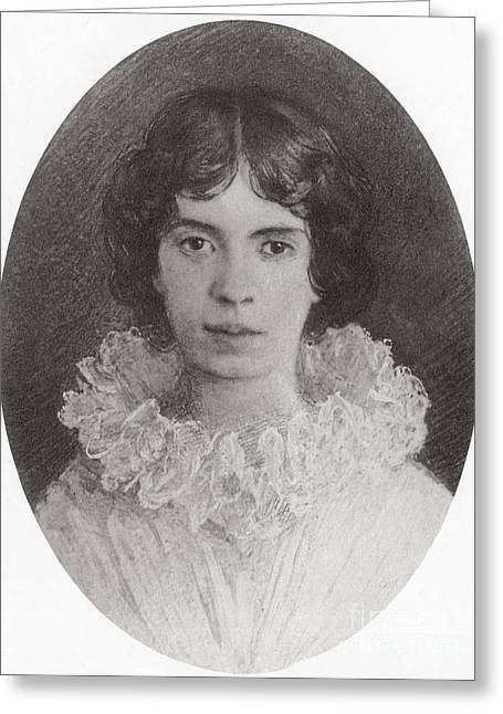Famous Person Greeting Cards - Emily Dickinson, American Poet Greeting Card by Photo Researchers