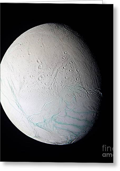 Gash Greeting Cards - Enceladus Greeting Card by NASA / Science Source