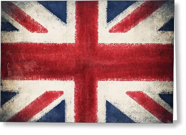 Flags Flying Greeting Cards - England flag Greeting Card by Setsiri Silapasuwanchai