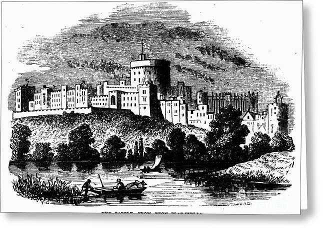 River View Greeting Cards - England: Windsor Castle Greeting Card by Granger