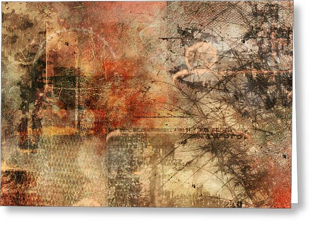 Scratches Greeting Cards - Entropy Greeting Card by Christopher Gaston