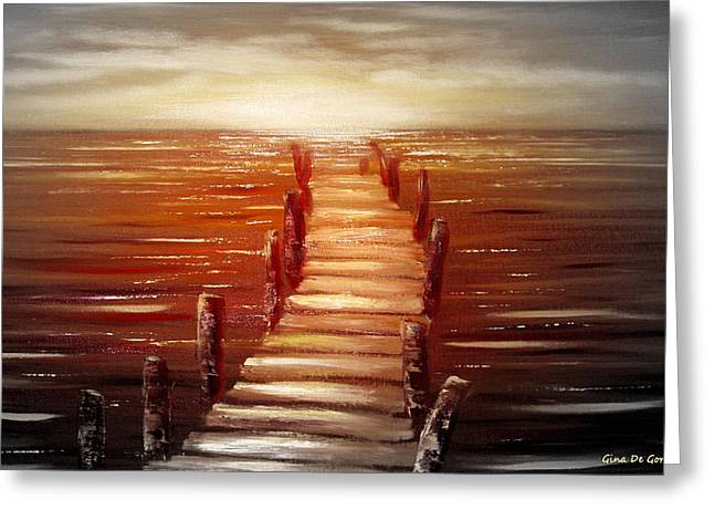 Sunset Posters Greeting Cards - Escape Greeting Card by Gina De Gorna
