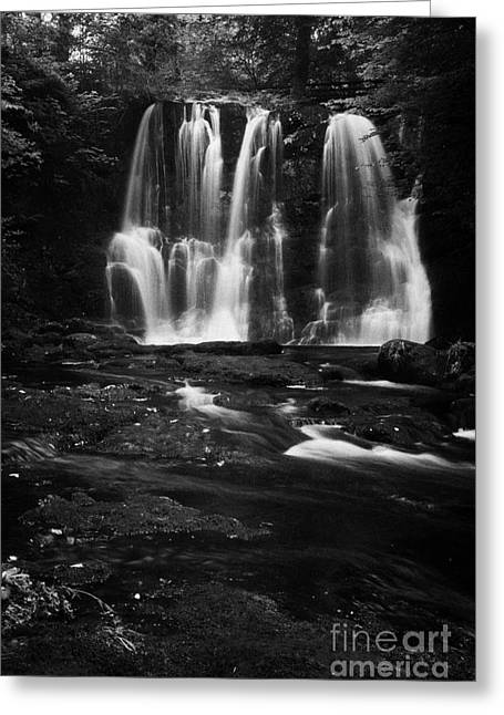 Ess-na-crub Waterfall On The Inver River In Glenariff Forest Park County Antrim Northern Ireland Uk Greeting Card by Joe Fox