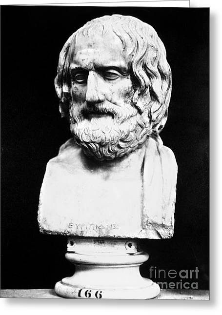 Statue Portrait Greeting Cards - Euripides Greeting Card by Granger