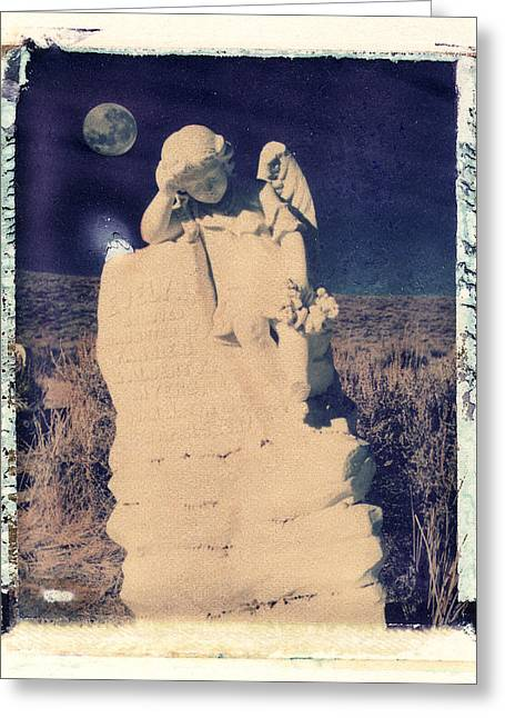 Polaroid Transfer Greeting Cards - Evelyn and Moon Greeting Card by Joe  Palermo