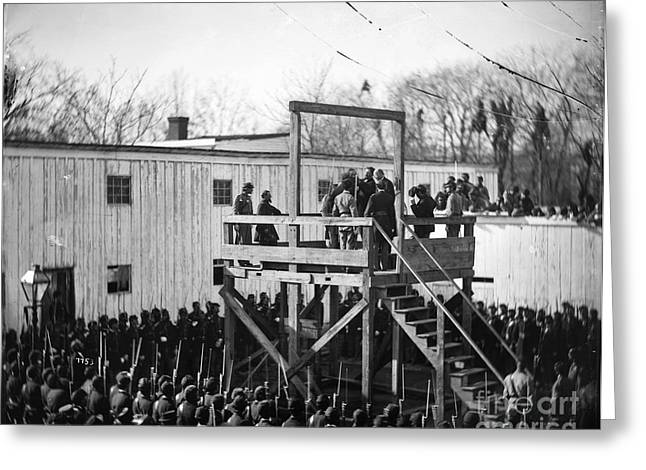 Gallows Greeting Cards - Execution Of Henry Wirz Greeting Card by Granger