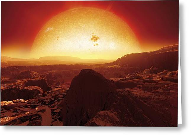 Super Stars Greeting Cards - Extrasolar Super-earth, Artwork Greeting Card by Detlev Van Ravenswaay