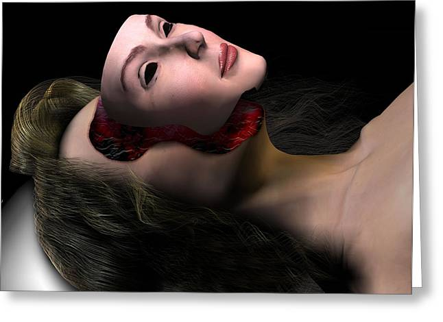 Replacing Greeting Cards - Face Transplant Greeting Card by Christian Darkin
