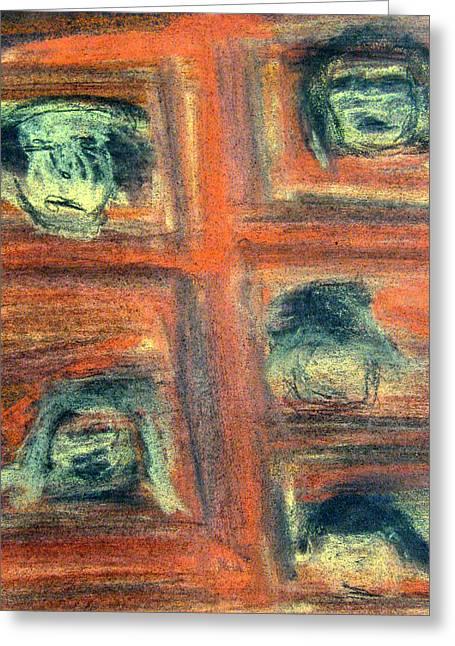 Ego Pastels Greeting Cards - False Self Greeting Card by Patricia Januszkiewicz
