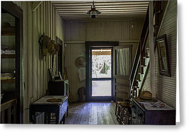 Farmhouse Entry Hall and Stairs Greeting Card by Lynn Palmer