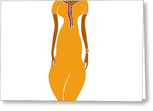 Fashion Drawing Greeting Card by Frank Tschakert