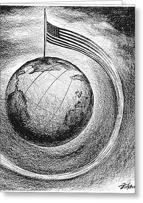 Dï¿¿r Greeting Cards - F.d. Roosevelt Cartoon Greeting Card by Granger