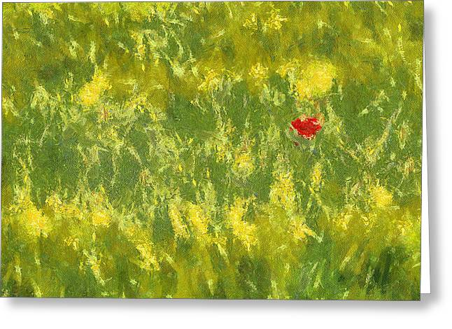 Sweating Paintings Greeting Cards - Field Greeting Card by Odon Czintos