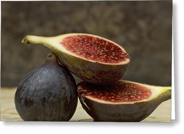 Exotic Fruit Greeting Cards - Figs Greeting Card by Bernard Jaubert
