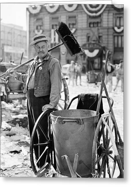 Street Sweeper Greeting Cards - Film Still: Street Cleaner Greeting Card by Granger