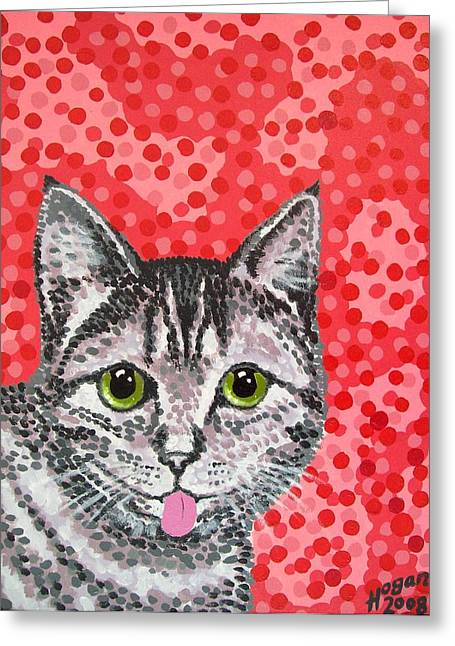 Moggy Greeting Cards - Finnish Cat Greeting Card by Alan Hogan