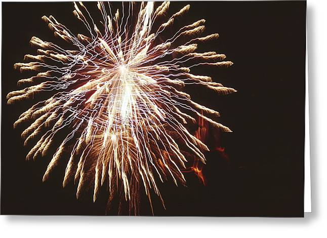 Exposure Greeting Cards - Firework Display Greeting Card by Magrath Photography