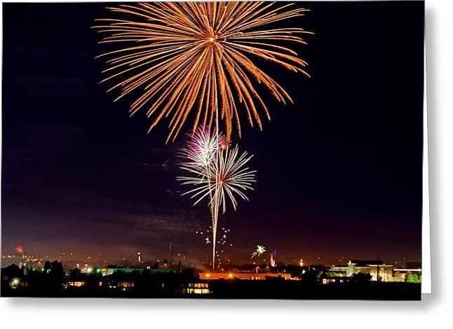 Fireworks Greeting Card by Elijah Weber