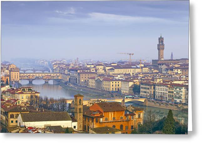 Roman Streets Greeting Cards - Florence Greeting Card by Andre Goncalves
