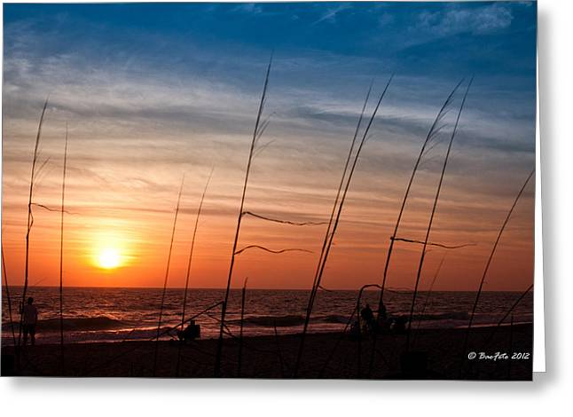 Englewood Greeting Cards - Florida Sunset Greeting Card by Bao D