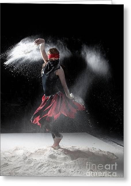 Dance Greeting Cards - Flour Dancer Series Greeting Card by Cindy Singleton