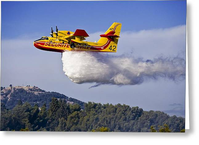 Fire And Water Greeting Cards - Forest Fire, France Greeting Card by Alexis Rosenfeld