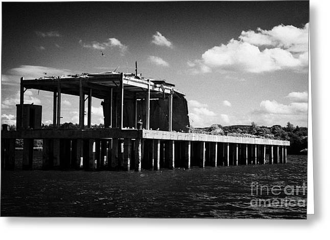 Neagh Greeting Cards - former world war 2 II torpedo production testing station now a  common tern colony nature reserve Greeting Card by Joe Fox