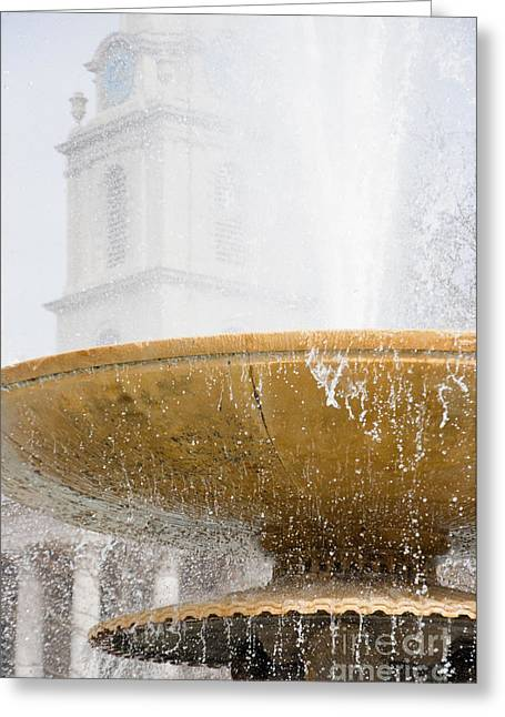 London Greeting Cards - Fountain Greeting Card by Andrew  Michael