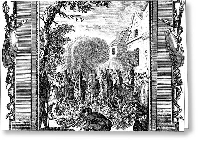 FOXE: BOOK OF MARTYRS Greeting Card by Granger