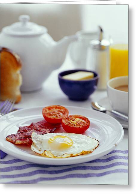 Toast Greeting Cards - Fried Breakfast Greeting Card by David Munns