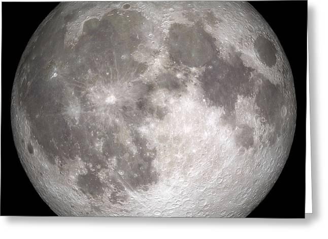 Full Moon Greeting Card by Stocktrek Images
