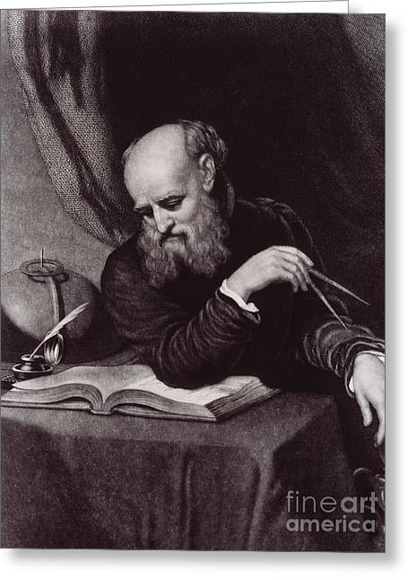 Discoverer Greeting Cards - Galileo Galilei, Italian Polymath Greeting Card by Science Source